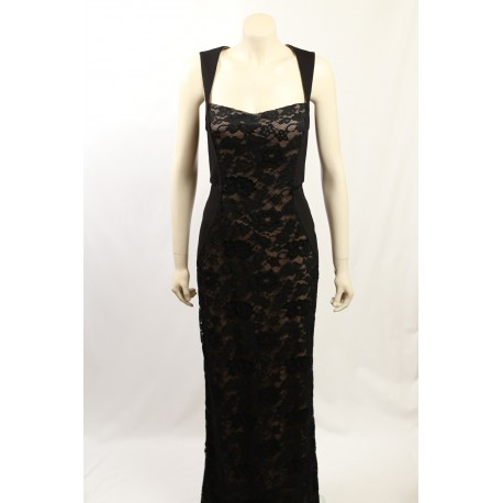 Aidon Mattox - Size 12- Black Lace Formal Gown