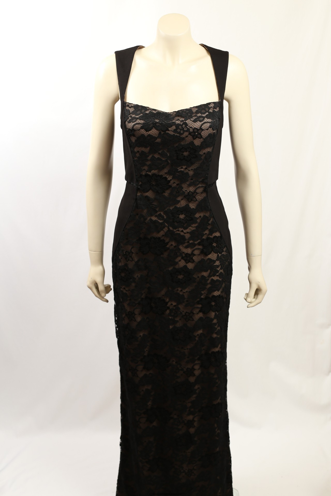 493aba6646a Aidon Mattox - Size 12- Black Lace Formal Gown
