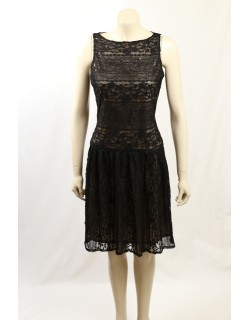 Ralph Lauren -Size 10/12- Black Lace Cocktail Dress