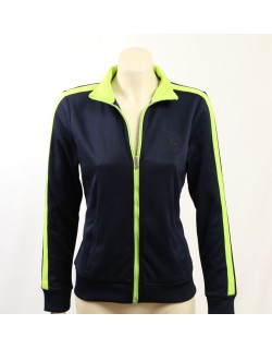Ralph Lauren -Size M- Navy, Lime Trim Track Jacket