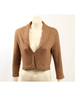 Ralph Lauren -Size M- Brown Merino Wool Soft Blazer