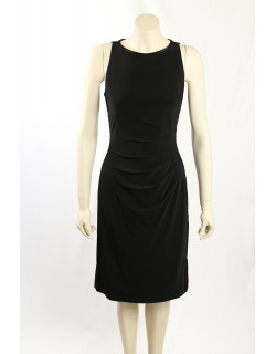Ralph Lauren -Size 10- Black Cocktail Dress, Satin Side Panels