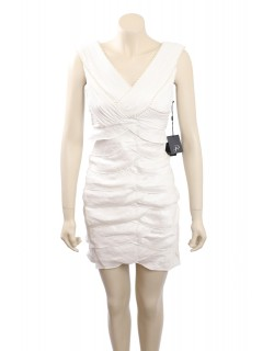 Adrianna Papell -Size 6P- Ivory, tiered Formal Cocktail Dress