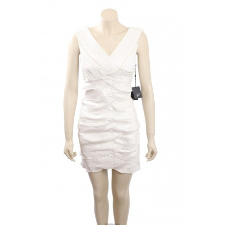 Adrianna Papell -Size 6P- Ivory, tiered cocktail dress