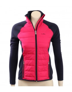 Ralph Lauren Pink/Navy Quilted front Fleece Jacket
