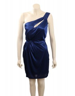 Trixxi -Size XL- Blue Satin Embellished One Shoulder Cocktail Dress 2nds