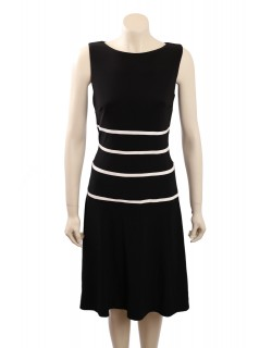 Ralph Lauren -Size 14- Sleeveless Matte Jersey Wear to Work BW Dress