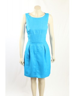 Ralph Lauren -Size 12P- Blue Textured Dress