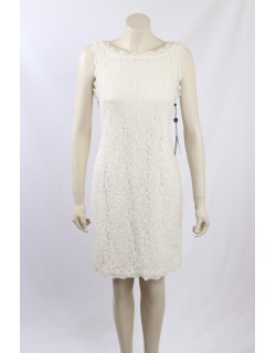 Adrianna Papell -Size 8- Cream Lace Cocktail Dress