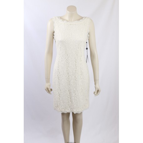 Adrianna Papell Cream Lace Dress