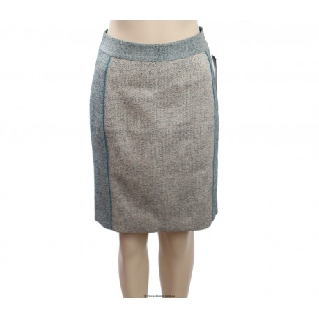 DKNY -Size 6/8- Blue textured pencil skirt
