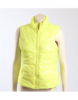 Jenni -Size M/12- Bright Yellow Vest with Hot Pink Lining