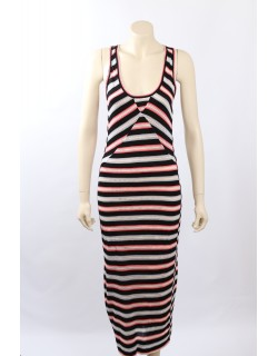 Marc Jacobs Size XS Striped black Sleeveless Maxi Dress