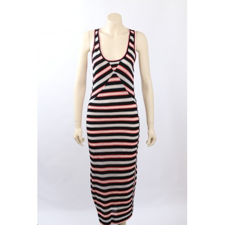 Marc Jacobs striped black Sleeveless Maxi Dress