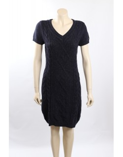 Tommy Hilfiger Cable Knit Marled Navy Sweaterdress