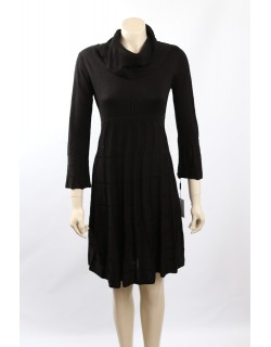 Calvin Klein Size M Black Knit Cowl Neck Sweaterdress