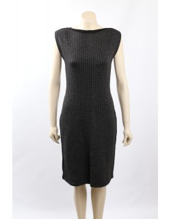 Ralph Lauren Size S Gray Merino Wool Blend Houndstooth Casual Dress