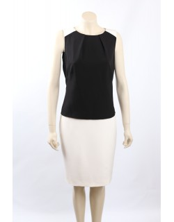 Ralph Lauren Size 16 B/W Colorblock Wear to Work Dress