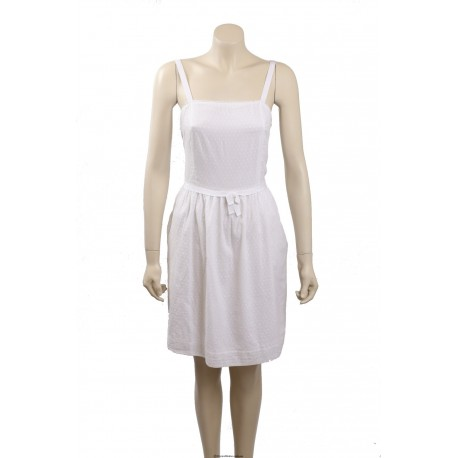 Tommy Hilfiger White Cotton Sundress