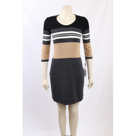 Calvin Klein Colour Block Sweater Dress