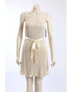 AQUA -Size 10- Ivory Gold Formal Cocktail Dress