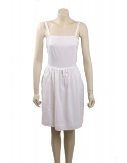 Tommy Hilfiger White Cotton Summer Dress