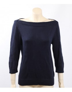 Ralph Lauren Size L Navy Knit Raglan Pullover Sweater Top