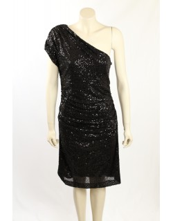 Ralph Lauren -Size 12/14- Black Sequin Cocktail Dress