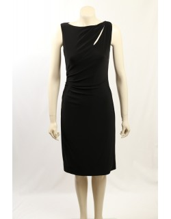 Ralph Lauren -Size 8- Black Matte Jersey Cocktail Dress