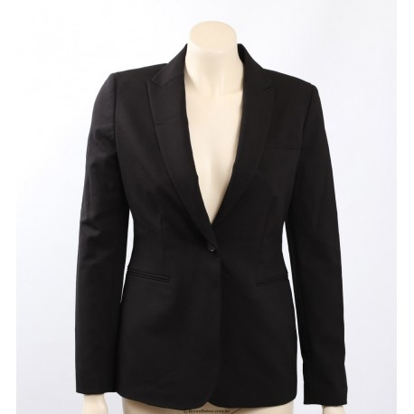Calvin Klein Black One-Button Blazer Jacket