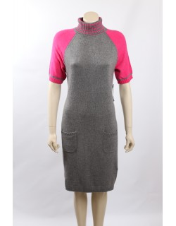 Tommy Hilfiger Size L Gray Angora Blend Sweaterdress