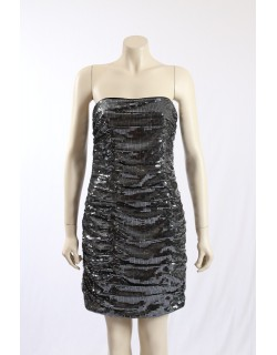 AQUA -Size 14- Silver Sequined Party Cocktail Dress
