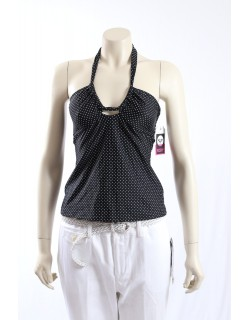 Roxy -Size M- Black White Doted Swimsuit Top