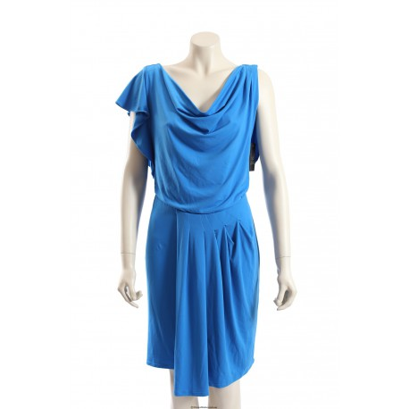 Vince Camuto -Size 10- Blue Cocktail Dress in Matte Jersy