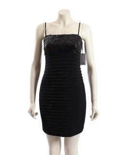 Calvin Klein -Size 8- Black Formal Cocktail Dress w/ Sequin Bust