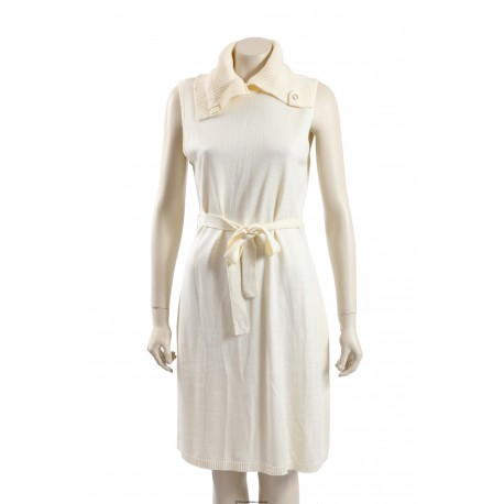 Calvin Klein -Size M/12- Ivory Belted Sweaterdress