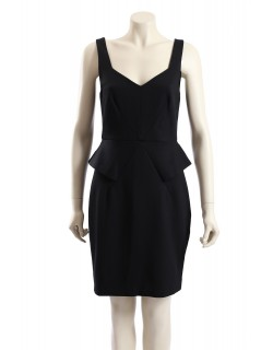 Trina Turk -Size10- Black Ponte Work Dress