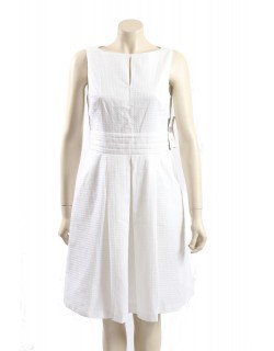 Ralph Lauren white dress in textured cotton - Size 16