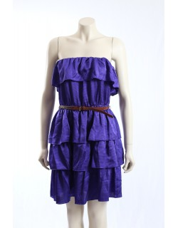Laundry -Size S- Purple Party Cocktail Dress w/ Ruffles