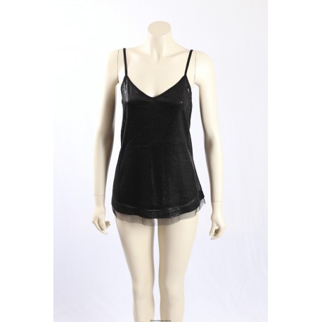 Michael Stars -Size S- Black Sequin Party Top