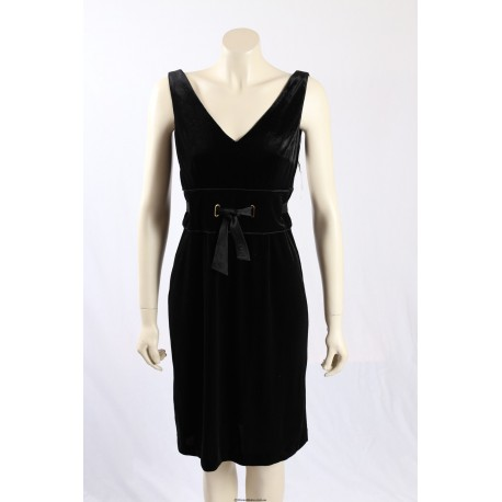 Donna Morgan -Size 10- Black Formal Cocktail Dress in Velour