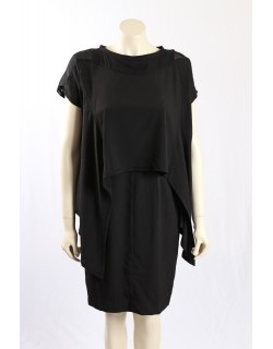 Jessica Simpson black asymetrical cocktail dress - Size 10