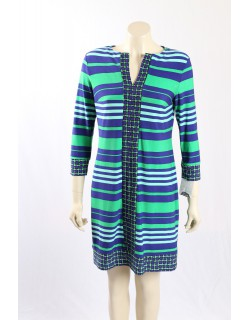 Donna Morgan -Size 12- Green and Blue patterned dress