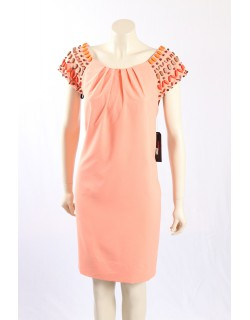 Miss Sixty -Size12/14 Peach Casual dress w/ beading