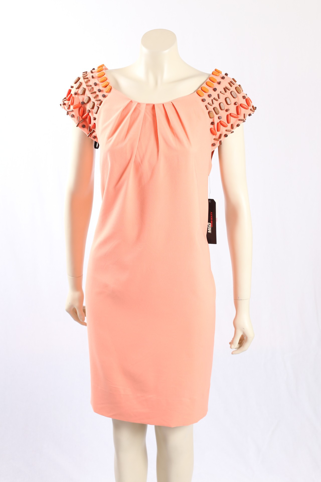 f18e970c4e2 Miss Sixty -Size12 14 Peach Casual dress w  beading. Loading zoom