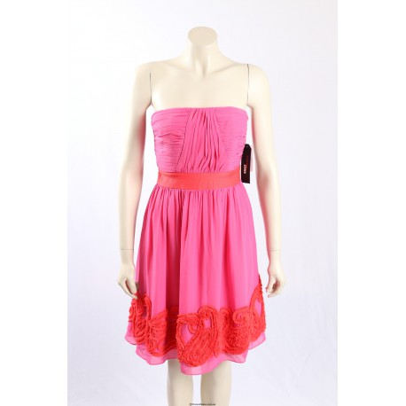 Miss Sixty pink strapless party cocktail dress - Size 6